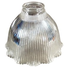 Single Vintage Glass Light Fixture Shade - Old I-5 Holophane