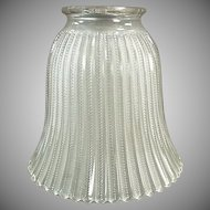 Single Vintage Frosted Light Shade with Zipper Pattern