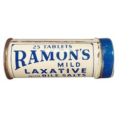Vintage Medicine Tin – Ramon's Little Doctor Laxative with Bile Salts Tin