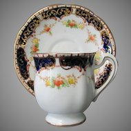 Vintage Royal Standard Bone China Cup & Saucer – Royal Blue & Gold Trim
