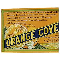 Vintage Sunkist Orange Cove Fruits Advertising Ink Blotter