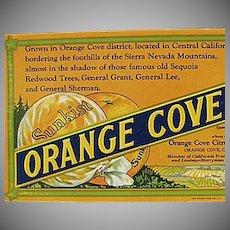 Vintage Sunkist Orange Cove Fruits Advertising Ink Blotter