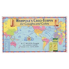 Vintage Ink Blotter Advertising Wampole Creo-Terpin - Conquests of the Air