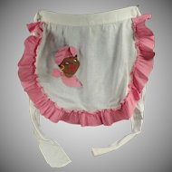 Vintage Kitchen Apron with Mammy Applique - Old Black Memorabilia