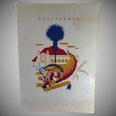 Vintage S.S. President Harrison Menu - 1940 American President Lines - California
