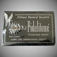 Vintage Fidelitone Floating Point Long Life Phonograph Needle