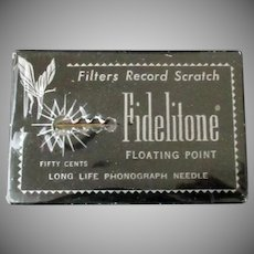 Vintage Fidelitone Floating Point Long Life Phonograph Needle
