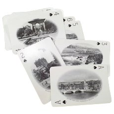 Vintage Souvenir Deck of Playing Cards with 52 Photos of Ireland