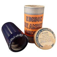 Vintage Edison Blue Amberol Cylinder Phonograph Record – La Paloma – The Dove