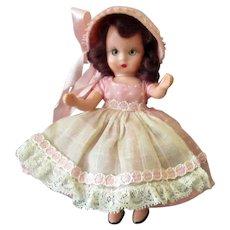 Vintage Nancy Ann Storybook Doll – Pretty in Pink – Hard Plastic