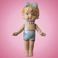 Vintage O.J. Bisque Doll  - Occupied Japan Bathing Beauty Little Girl