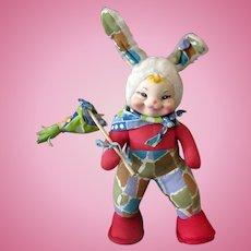 Vintage Rushton Star Creation Rubber Faced Hobo Bunny Rabbit - Large