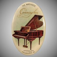 Vintage Celluloid Advertising Mirror – The Matchless Cunningham Piano Company