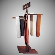 Vintage Paris Suspenders Advertising Store Display - Versitile Wood Display Rack
