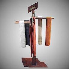 Vintage Paris Suspenders Advertising Store Display - Versitile Wood Display Rack