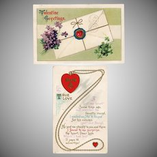 Vintage Valentine Postcards – Two from the Early 1900's