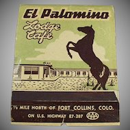 Vintage Over Sized Match Book - Large El Palomino Lodge Advertising Matchbook