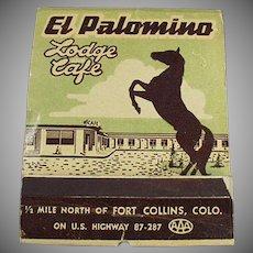 Vintage Over Sized Match Book - Large El Palomino Lodge Advertising Matchbook