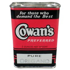 Vintage Cowan's Spice Tin from the Sunset Coffee Company