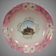 Vintage Souvenir Plate Bowl of Historic Sprague, Washington High School Building