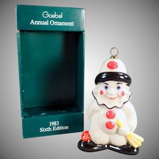 Vintage Goebel Christmas Tree Ornament with Original Box - 1983