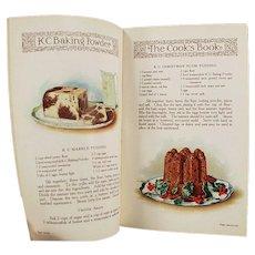 Vintage K C Baking Powder Advertising Recipe Booklet