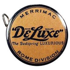 Vintage Celluloid Advertising Tape Measure - Merrimac DeLuxe Bedsprings