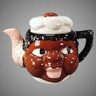 Vintage Black Memorabilia Mammy Teapot Made in Japan