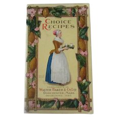 Vintage Baker's Choice Recipes Booklet with Colorful Illustrations - 1926