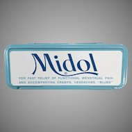 Vintage Midol Tin for Menstrual Disorders - Fun Medicine Tin