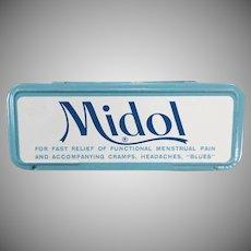 Vintage Midol Tin for Menstrual Disorders - Fun Medicine Tin