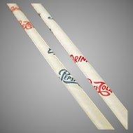 Vintage Pepsi Paper Straws - Six Old Straws with Pepsi Cola Advertising
