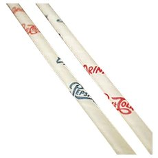 Vintage Pepsi Paper Straws - Six Old Straws with Pepsi Cola Advertising