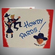 Vintage Party Invitation with Hoppy - Old Hopalong Cassidy Memorabilia