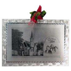 Vintage 1904 Aluminum Christmas Postcard from Methodist Episcopal Church Deacon