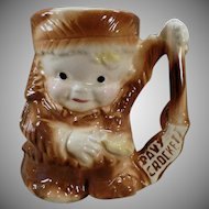 Childs Vintage Davy Crockett Cup - Ceramic Mug by Brush Pottery