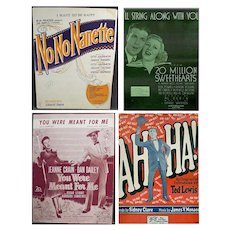 Vintage Sheet Music from Assorted Musicals and More – Four Different Songs