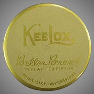Vintage KeeLox Typewriter Ribbon Tin - Gold Better Brands