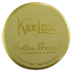 Vintage KeeLox Typewriter Ribbon Tin - Gold Better Brands