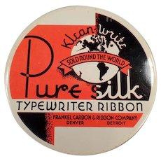 Vintage Typewriter Ribbon Tin - Klean-Write Pure Silk