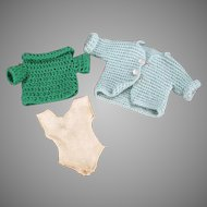 Vintage Doll Clothes - Sweaters for Tammy and Other Similar Dolls