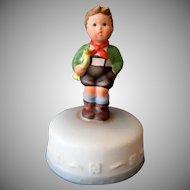Vintage Schmid Music Box – Hark the Herald 1984 Hummel Inspired Boy on Cake