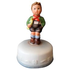 Vintage Schmid Music Box – Hark the Herald 1984 Hummel Inspired Boy on Cake