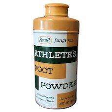 Vintage Rexall Fungi-Rex Athlete's Foot Powder Tin