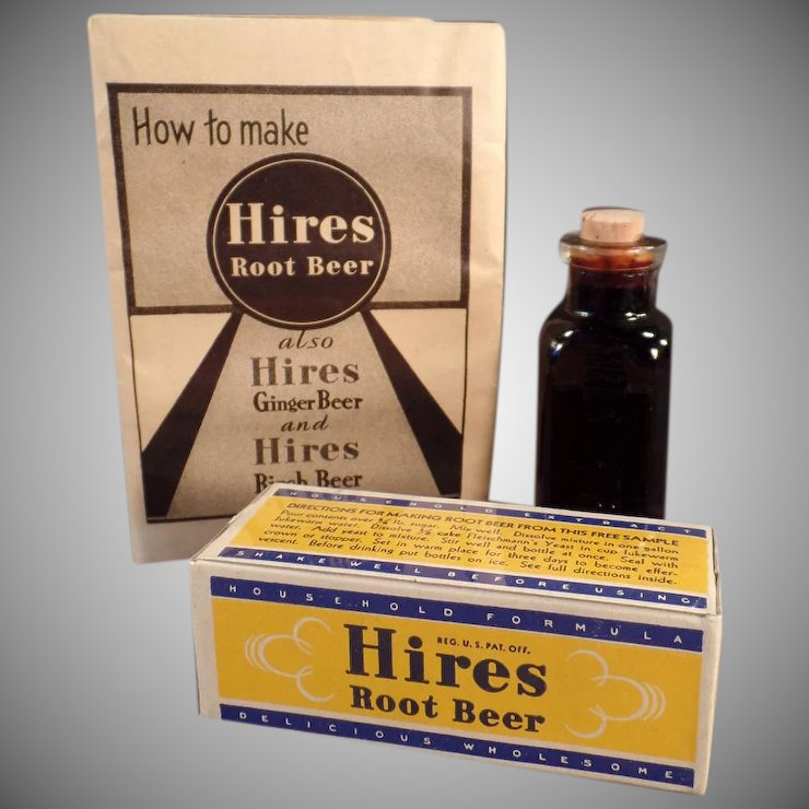 hires root beer glass bottle