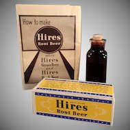 Vintage Hires Root Beer Extract - Original Sample Package & Bottle