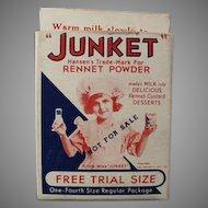 Vintage Miniature Junket Trial Sample Box with Little Miss Junket