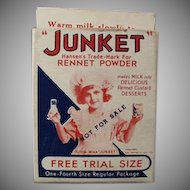 Vintage Miniature Junket Trial Sample Box with Little Miss Junket