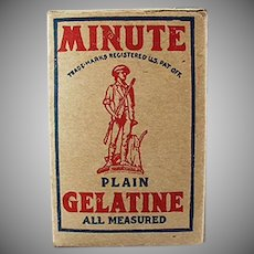 Vintage Minute Gelatine Miniature Product Sample Box - Nice Graphics