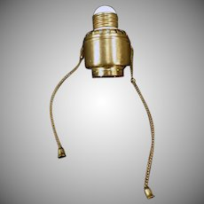 Vintage Wirt Dim-A-Lite Pull Chain Light Socket Adapter – Early 1900's